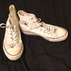 White Converse Hitops